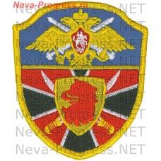 Нашивка Пограничного отряда г.Каспийск республика Дагестан в.ч. 2062. Оверлок