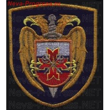 Patch Federal security service of Russia. Shield. Dark blue background. The presidential regiment