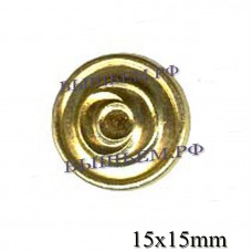 Metal shank button private security 14 mm.