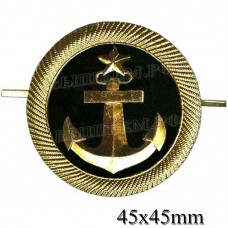 Cockade Navy, cadets of merchant marine and river fleet (round 45 mm in the centre on a black background anchored with a star.)