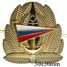 The metal badge of the Cadets of the marine College