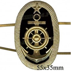 Badge metal River fleet, the cadets of the naval school oval (anchor, wheel, star.) two camerah.