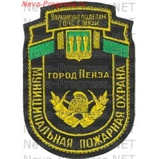 Badge EMERCOM of Russia shield Management on Affairs of GO CHS Penza Municipal fire protection