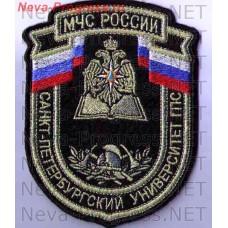 Badge EMERCOM of Russia the shield of the Saint-Petersburg University of state fire service (metanite)