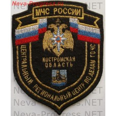 Badge EMERCOM of Russia shield Central regional center for civil defense and emergency situations in the Kostroma region (to metanite)