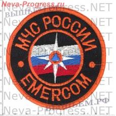 Badge EMERCOM of Russia EMERCOM (black background, orange lines)