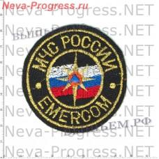 Нашивка МЧС России круглая EMERCOM (метанить)