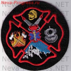 Badge of Rescuers and firefighters USA