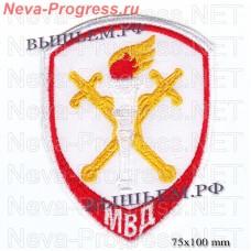 Нашивка полиции нового образца  следственные подразделения в системе МВД России ( красный кант )