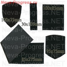 Velcro (Velcro) soft part (for sewing on uniforms). The shape and size of the range