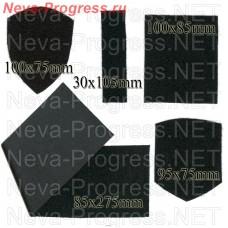 Липучка (велкро) мягкая часть (для пришивания на форменную одежду). Размеры и форма в ассортименте