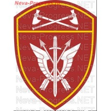 Patch - the insignia for the functional purpose of military servicemen of the special rapid response unit (SOBR) of the Volga Federal district of national guard troops of the Russian Federation, Regardie, national guard RF (von MOSS, maroon, olive, or th