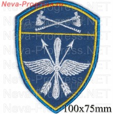 Patch aviation military unit of the Volga Federal district of National guard troops, Regardie, national guard RF (blue background)
