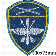 Patch aviation military units Severo-the Caucasian district troops of the National guard, Regardie, national guard RF (blue background)