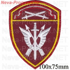 Patch - the insignia for the functional purpose of military servicemen of the special rapid response unit (SOBR) of the Northwest Order of the red Star district of national guard troops of the Russian Federation, Regardie, national guard RF (maroon