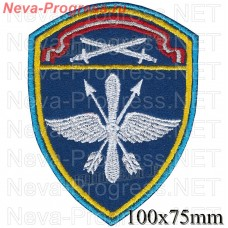 Patch aviation military units Severo-the Western Order of the red Star district of National guard troops, Regardie, national guard RF (blue background)
