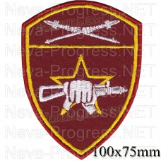 Patch - the insignia for the functional purpose to military units of special purpose (SN) of the Eastern district of national guard troops of the Russian Federation, Regardie, national guard RF (von MOSS, maroon, olive, or black)