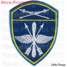 Patch aviation military unit of the Eastern district of National guard troops, Regardie, national guard RF (blue background)