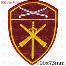 Patch artillery units of the southern district of National guard troops, Regardie, national guard RF (von MOSS, maroon, olive, or black)