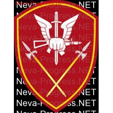Patch - the insignia for the functional purpose of military servants and officers of the management bodies of the special forces of the Ural district of national guard troops of the Russian Federation, Regardie, national guard RF (maroon, olive, or h