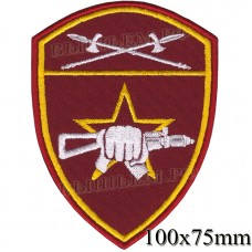 Patch - the insignia for the functional purpose to military units of special purpose (SN) of the Ural district of national guard troops of the Russian Federation, Regardie, national guard RF (von MOSS, maroon, olive, or black)