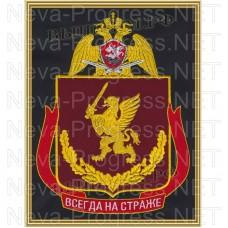 Картина с вышивкой (в раме) центральный аппарат Федеральной службы войск национальной гвардии Российской Федерации
