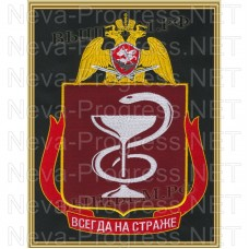 Painting with embroidery (in a frame) medical unit directly subordinate to Director of VNG FS of the Russian Federation