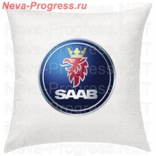 Cushion with embroidered logo and lettering of SAAB in the interior of the car, size and choose color in the options