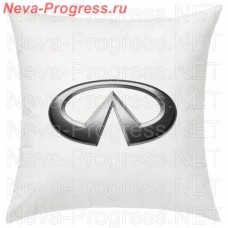 Pillow with embroidered INFINITI logo in the interior of the car, size and choose color in the options