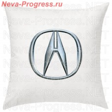 Pillow with embroidered ACURA logo in the interior of the car, size and choose color in the options