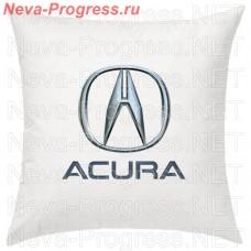 Подушка с вышитым логотипом и надписью ACURA в салон автомобиля, размер и цвет выбирайте в опциях