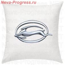 Подушка с вышитым логотипом  Chevrolet Impala в салон автомобиля, размер и цвет выбирайте в опциях