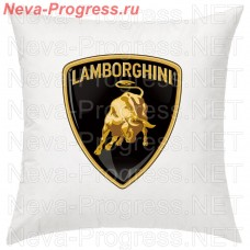 Pillow with embroidered logo LAMBORGHINI in the interior of the car, size and choose color in the options