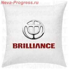 Подушка с вышитым логотипом и надписью BRILLIANCE в салон автомобиля, размер и цвет выбирайте в опциях