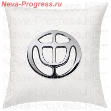 Pillow with embroidered logo BRILLIANCE in the interior of the car, size and choose color in the options