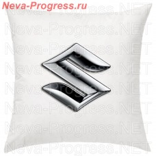 Pillow with embroidered SUZUKI logo in the interior of the car, size and choose color in the options