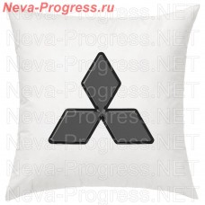 Pillow with an embroidered logo of MITSUBISHI in the passenger compartment, the size and color choose in the options