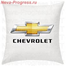 Подушка с вышитым логотипом и надписью CHEVROLET в салон автомобиля, размер и цвет выбирайте в опциях