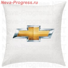 Подушка с вышитым логотипом CHEVROLET в салон автомобиля, размер и цвет выбирайте в опциях
