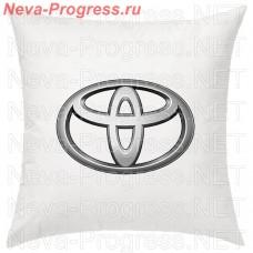 Подушка с вышитым логотипом TOYOTA в салон автомобиля, размер и цвет выбирайте в опциях