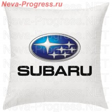 Cushion with embroidered logo and lettering SUBARU in the interior of the car, size and choose color in the options