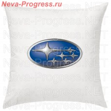 Pillow with embroidered logo SUBARU the vehicle, size and choose color in the options