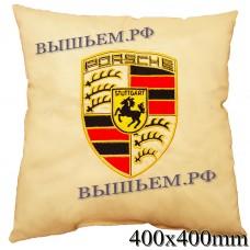 Подушка с вышитым логотипом PORSCHE в салон автомобиля, размер и цвет выбирайте в опциях