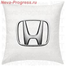 Подушка с вышитым логотипом HONDA в салон автомобиля, размер и цвет выбирайте в опциях