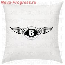 Подушка с вышитым логотипом BENTLEY в салон автомобиля, размер и цвет выбирайте в опциях