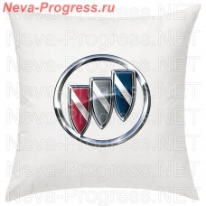 Pillow with embroidered BUICK logo in the interior of the car, size and choose color in the options