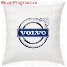 Подушка с вышитым логотипом VOLVO в салон автомобиля, размер и цвет выбирайте в опциях