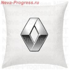 Подушка с вышитым логотипом RENAULT в салон автомобиля, размер и цвет выбирайте в опциях