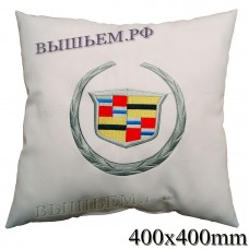 Pillow with embroidered CADILLAC logo in the car, the size and color choose in the options