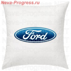 Pillow with embroidered FORD logo in the interior of the car, size and choose color in the options
